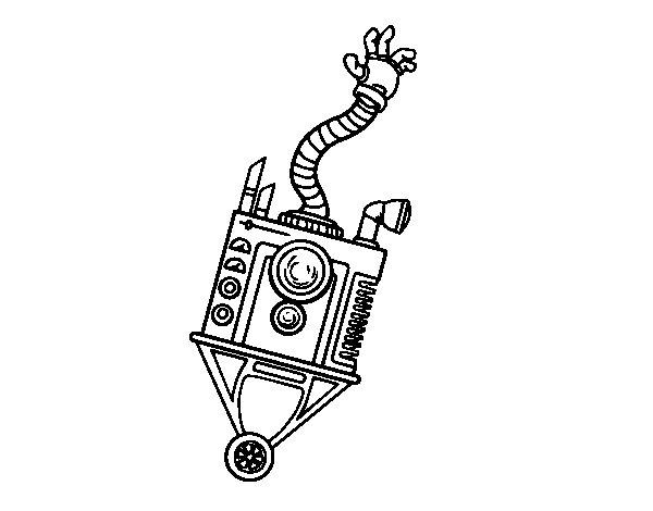 Dibujo de Robot mano para Colorear