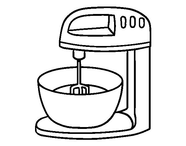Dibujo De Robot Para Repostería Para Colorear