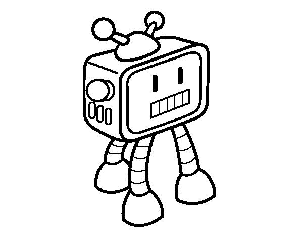 Dibujo de Robot televisivo para Colorear  Dibujosnet