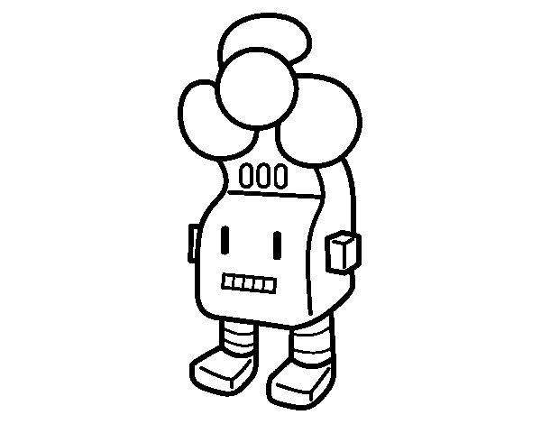 Dibujo de Robot ventilador para Colorear