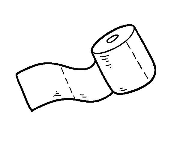 Dibujo de Rollo de papel higiénico para Colorear