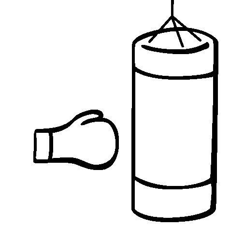 Dibujo de Saco de boxeo para Colorear