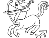 Dibujo de Sagitario para colorear