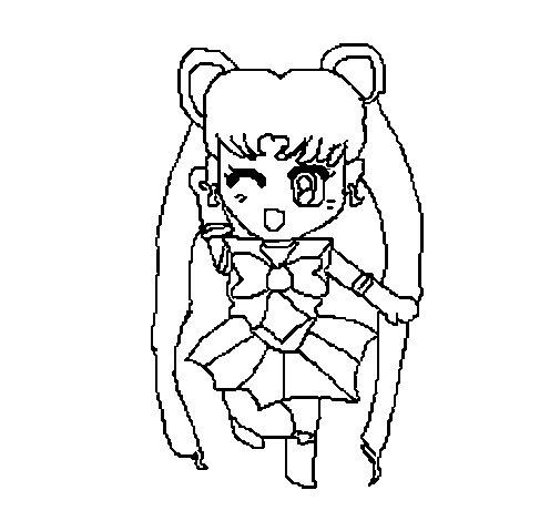 Dibujo de Sailor Moon para Colorear