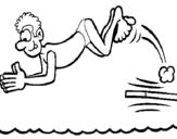 Dibujo de Salto de trampolín para colorear