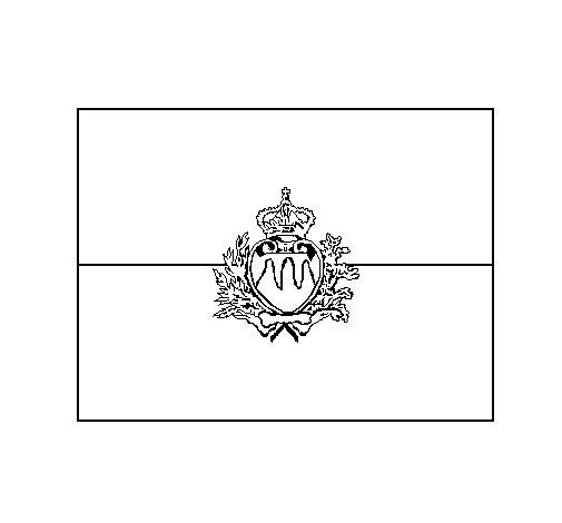 Dibujo de San Marino para Colorear