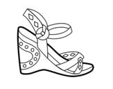Dibujo de Sandalia con cuña para colorear