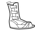 Dibujo de Sandalia romana para colorear