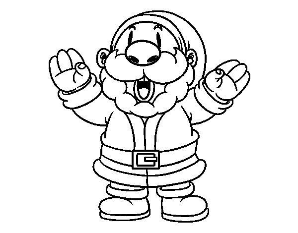 Dibujo de Santa Claus Riendo para Colorear