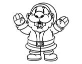 Dibujo de Santa Claus Riendo