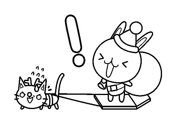 Dibujo de Santa conejo para Colorear