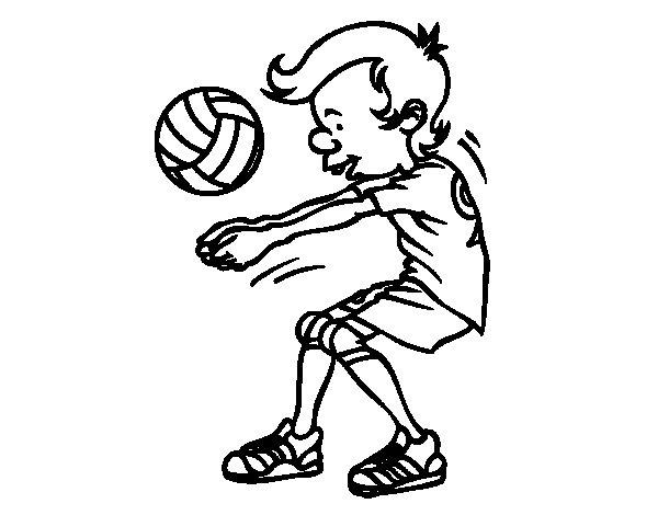 Dibujo de Saque de voleibol para Colorear