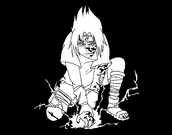 Dibujo de Sasuke para Colorear