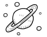 Dibujo de Satélites de Saturno para colorear
