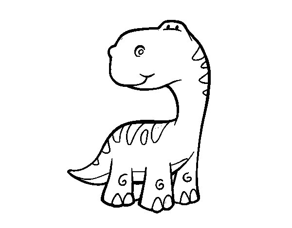 Dibujo de Saurópodo para Colorear