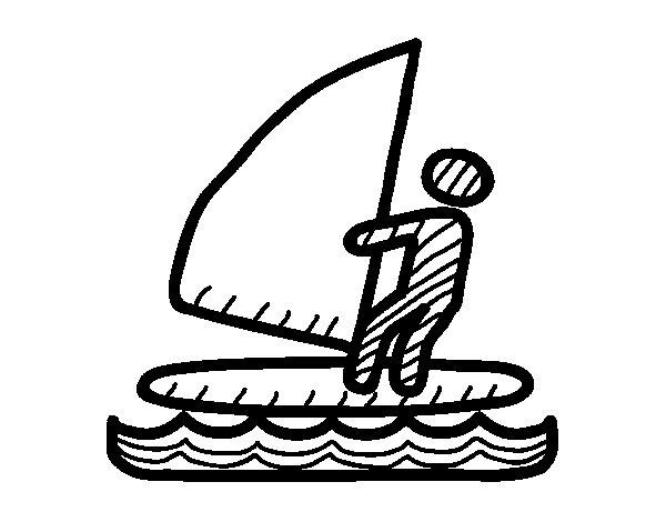 Dibujo de Señal de windsurf para Colorear