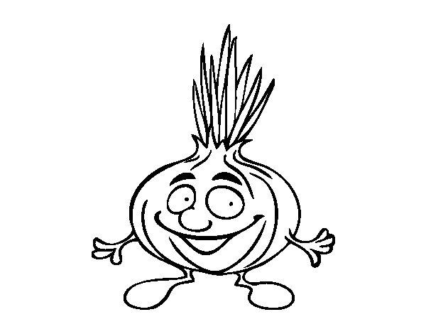 Dibujo de Seor cebolla para Colorear  Dibujosnet