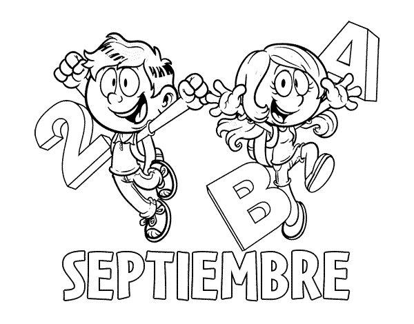 Dibujo de Septiembre para Colorear