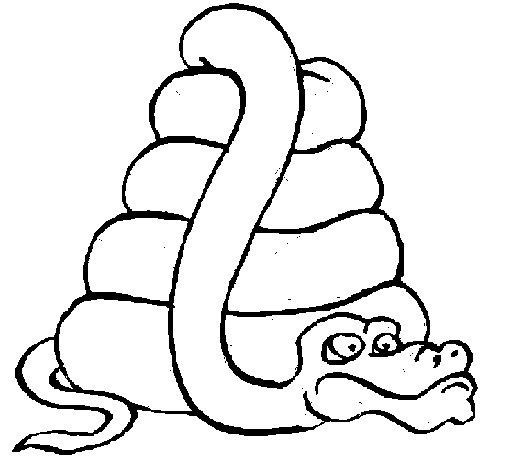 Dibujo de Serpiente grande para Colorear