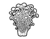 Dibujo de Seta enoki para colorear