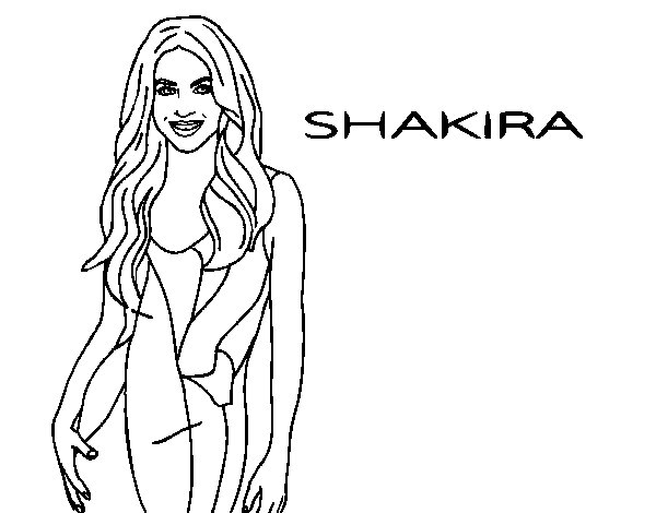 Dibujo de Shakira para Colorear