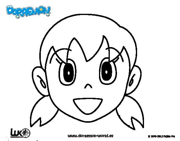 Dibujos Para Colorear E Imprimir De Doraemon: Dibujo De Shizuka Para Colorear