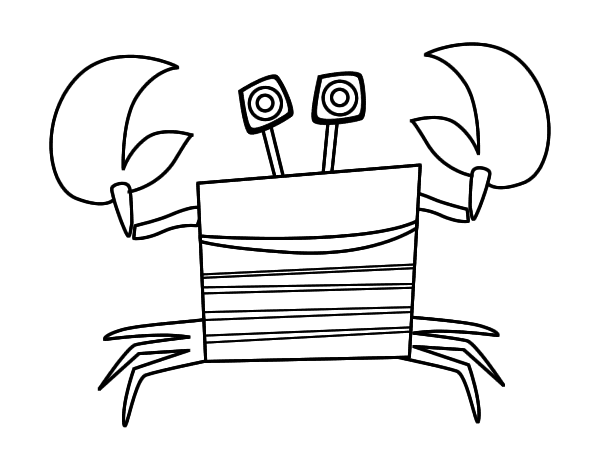 Dibujo de Signo de Cáncer para Colorear