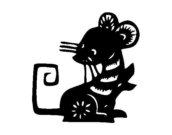 Dibujo de Signo de la rata para Colorear