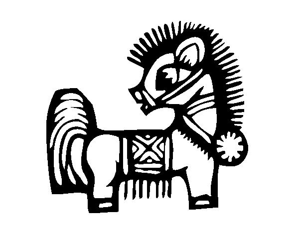 Dibujo de Signo del Caballo para Colorear