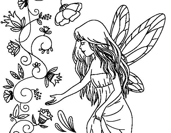 Dibujo de Sílfide para Colorear