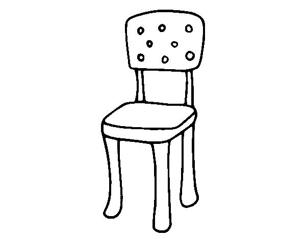 Dibujo de silla con respaldo para colorear for Sillas para dibujar