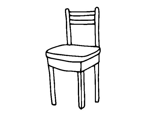 Dibujo de silla de comedor para colorear for Comedor facil de dibujar