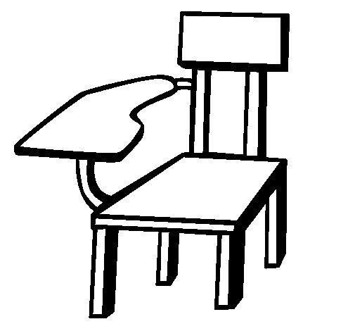 Dibujo de Silla escolar para Colorear
