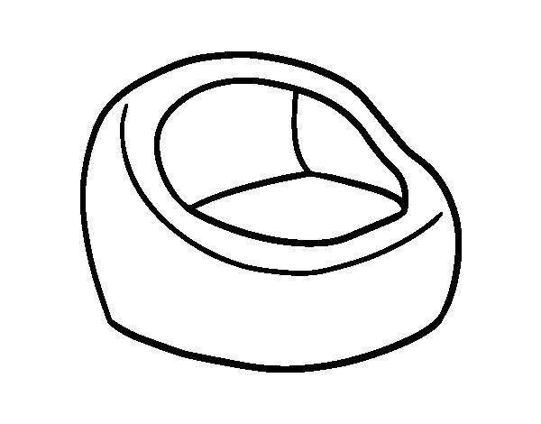 Dibujo de sill n redondo para colorear for Sillon redondo