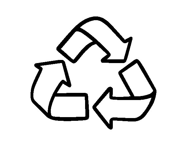 Dibujo de Símbolo del reciclaje para Colorear