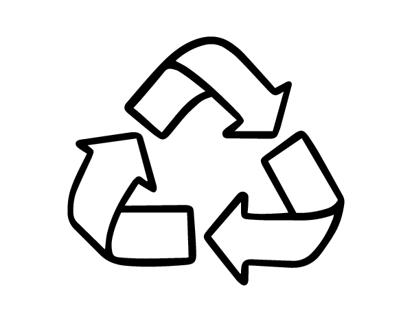 Dibujo de Smbolo del reciclaje para Colorear  Dibujosnet