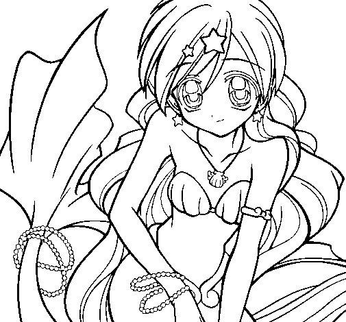 Dibujo de Sirena 3 para Colorear