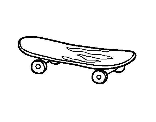 Dibujo de Skate para Colorear