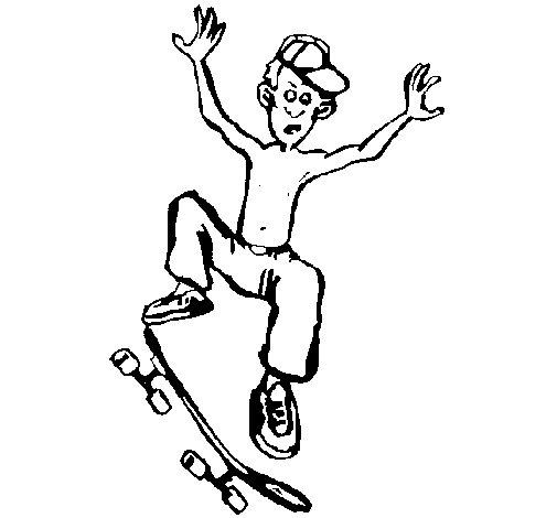 Dibujo de Skater para Colorear