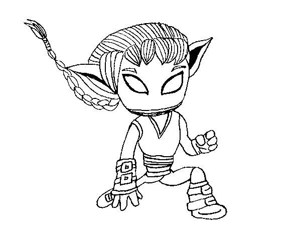 Dibujo de Skylanders Imaginators dibujado por Olgy para Colorear