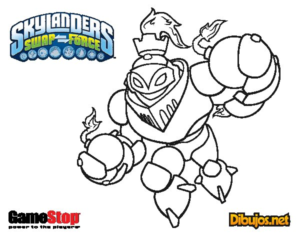 Dibujo de Skylanders Swap Force Blast Zone para Colorear