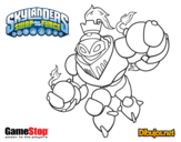 Dibujo de Skylanders Swap Force Blast Zone para colorear