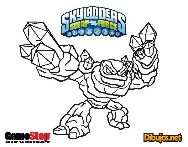 Dibujo de Skylanders Swap Force para Colorear