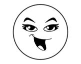 Dibujo de Smiley chica para colorear