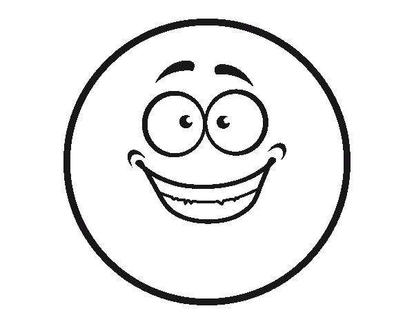 Dibujo de smiley contento para colorear - Smiley coloriage ...