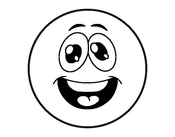 Dibujo De Smiley Divertido Para Colorear