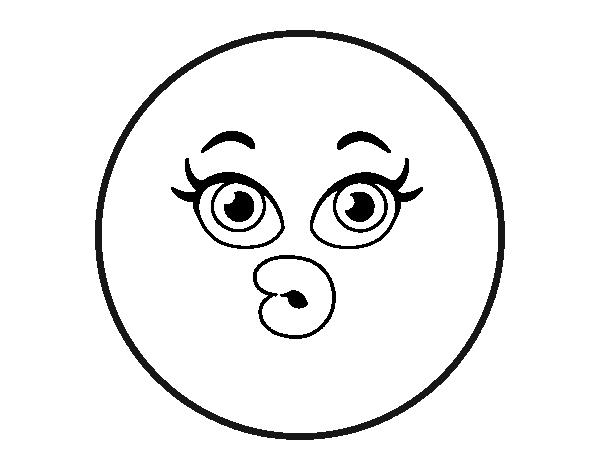 Dibujo de smiley dudoso para colorear - Smiley a dessiner ...
