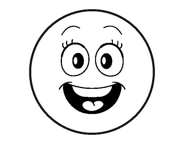 Dibujo de Smiley feliz  para Colorear