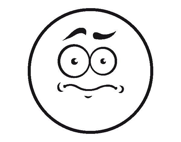 Dibujo de Smiley mal presentimiento para Colorear  Dibujosnet
