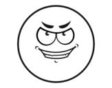 Dibujo de Smiley malvado  para colorear